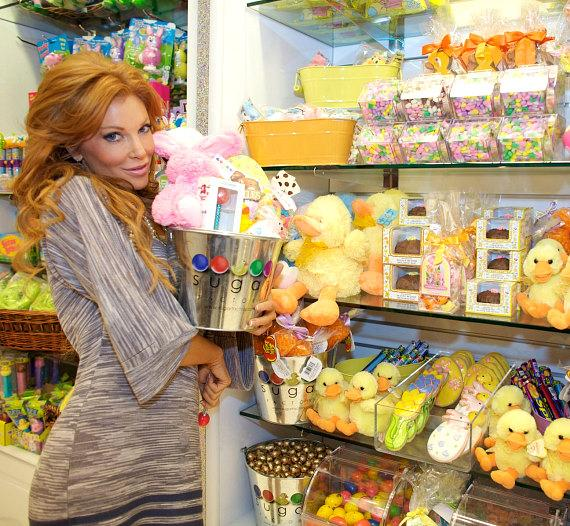 Angelica Bridges with a Sugar Factory Easter gift basket