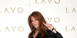 Angie Everhart at LAVO