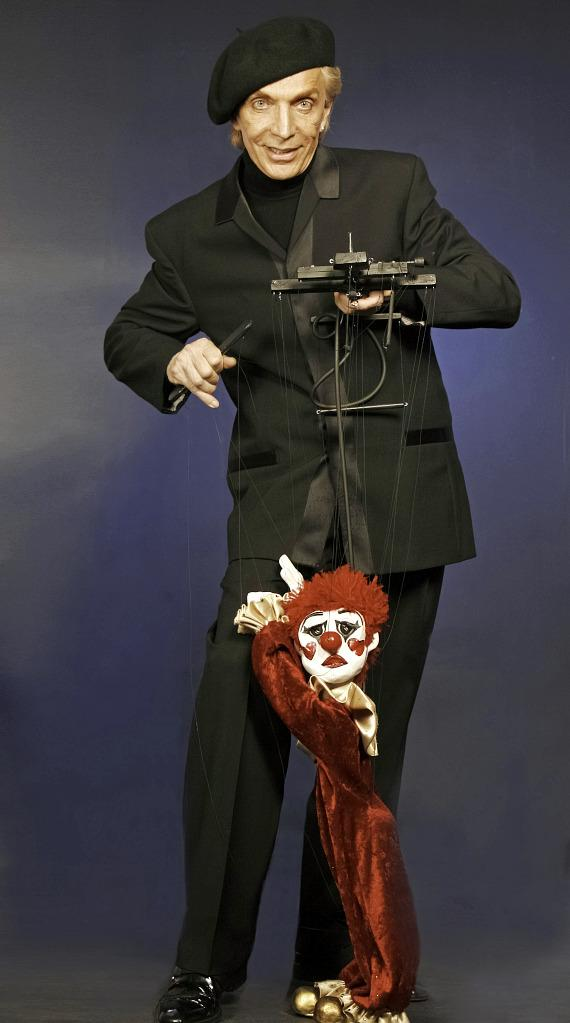 """Anthony Rais and his marionettes including Totolino were featured in """"Cirque Couture"""" at The Smith Center."""