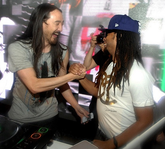 Steve Aoki and Lil Jon at Surrender Nightclub