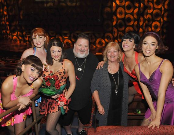 April and Phil with cast members of Viva ELVIS