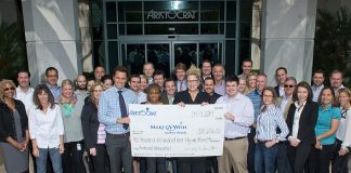 Aristocrat Presents Donation to Make A Wish Foundation