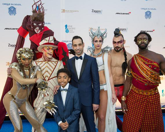 Artistic director Hassan El Hajjami and cast members from the fourth annual 'One Night for ONE DROP'