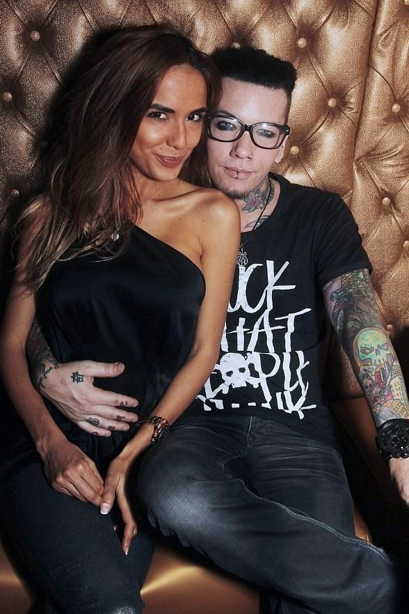 Dj Ashba of Guns N Roses and his wife at the after party for the Rock & Roll Academy fundraiser
