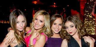 Ashley Tisdale, Sarah Hyland and friends at TAO