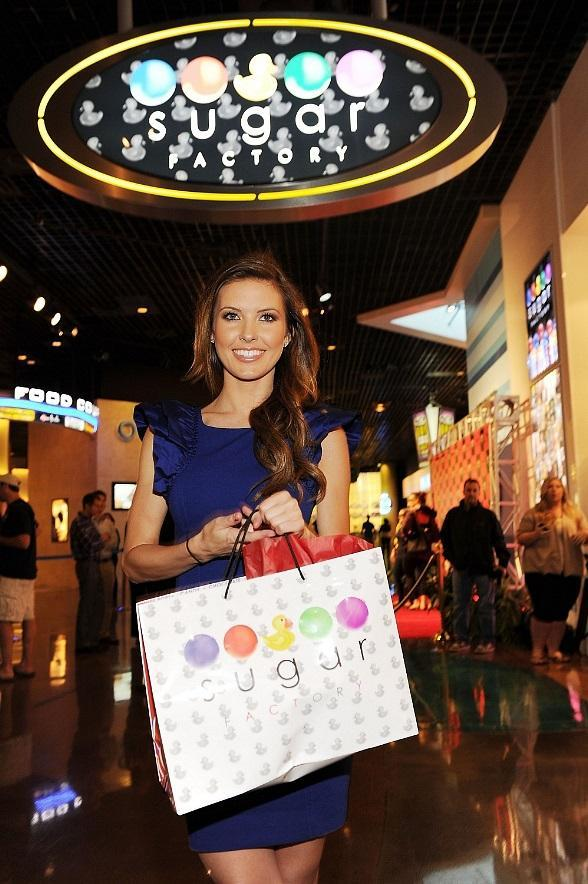 Audrina Patridge celebrates the grand opening of Sugar Factory's newest location at MGM Grand