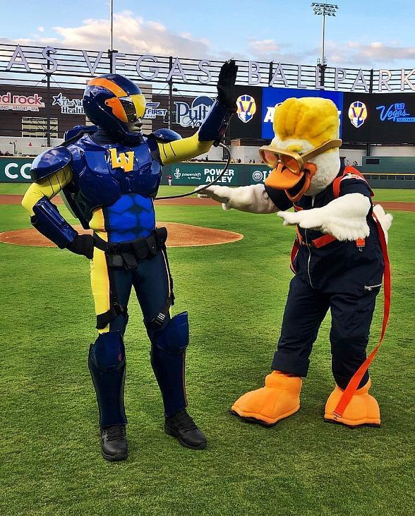 Meet Aviator and Spruce, New Mascots of The Las Vegas Aviators