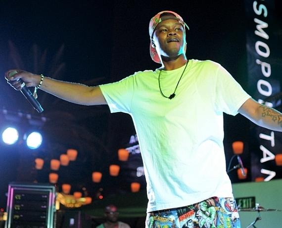 B.J. the Chicago Kid performs during Thursdays Live at The Cosmopolitan of Las Vegas' Boulevard Pool