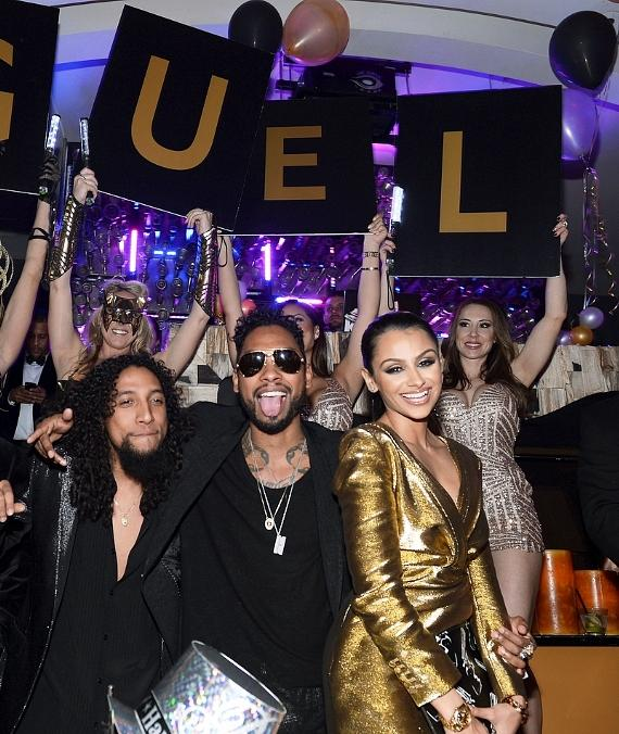 Miguel and girlfriend Nazanin Mandi at Hyde Bellagio