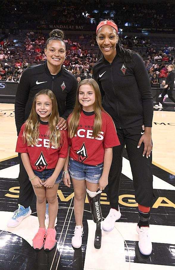 Local Shriners Hospitals for Children Patients Participate in Las Vegas Aces and Aviators Games