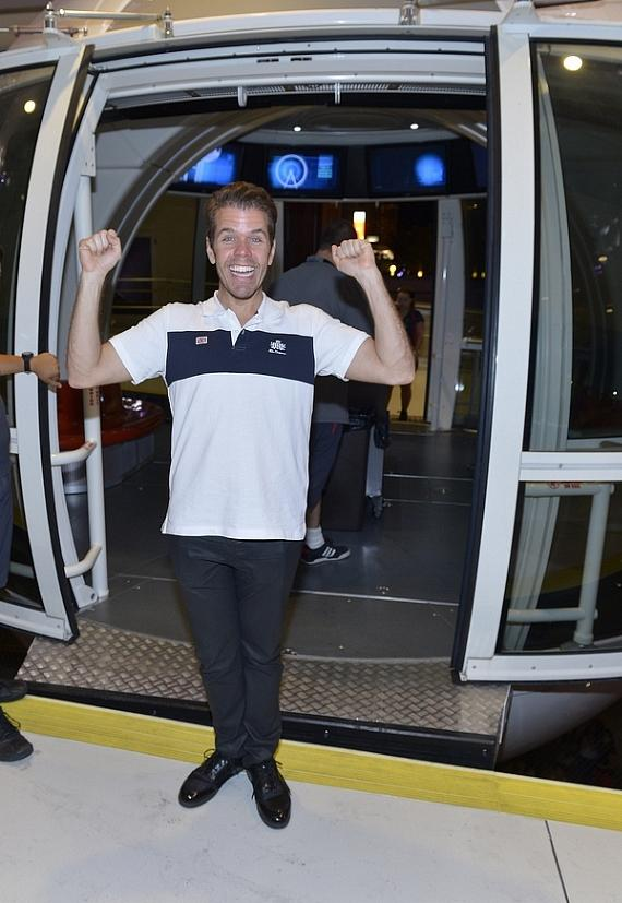 Perez Hilton exits The High Roller at The LINQ in Las Vegas