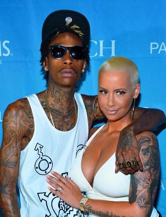 Wiz Khalifa and Amber Rose at Palms Pool in Las Vegas