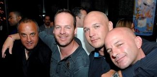 Chicago Bears linebacker Brian Urlacher and friends at Blush Boutique Nightclub