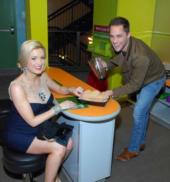 Holly Madison and John Strickland at opening of The Discovery Children's Museum