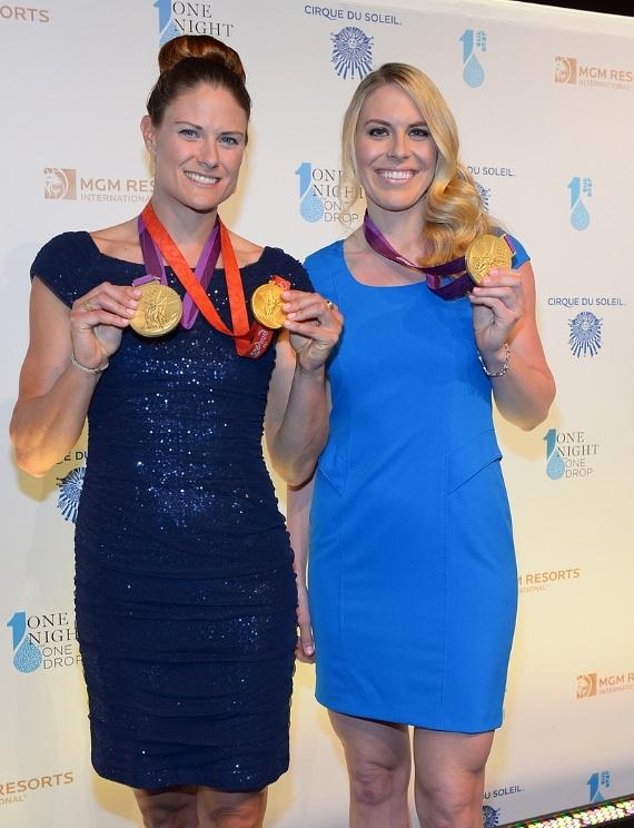 Olympic Gold Medal rowers Susan Francia and Esther Lofgren
