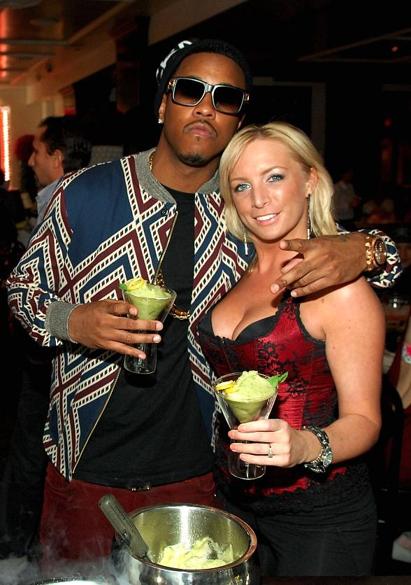 Jeremih with server at Chateau Nightclub