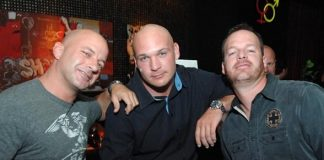 Chicago Bears Brian Urlacher and friends at Blush Boutique Nightclub