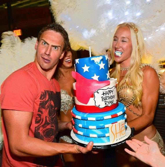 Ryan Lochte Dines and Celebrates Birthday at SHe by Morton's