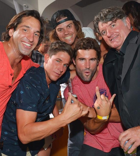 Brody Jenner with Tommy Armour and friends at Hyde Bellagio, Las