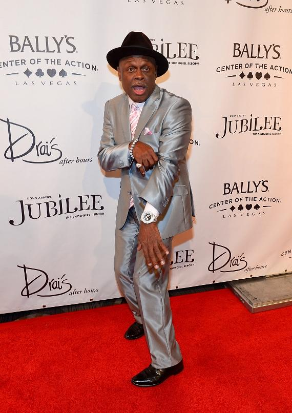 Comedian Michael Colyar arrives at the 'Jubilee!' show's grand reopening at Ballys Las Vegas