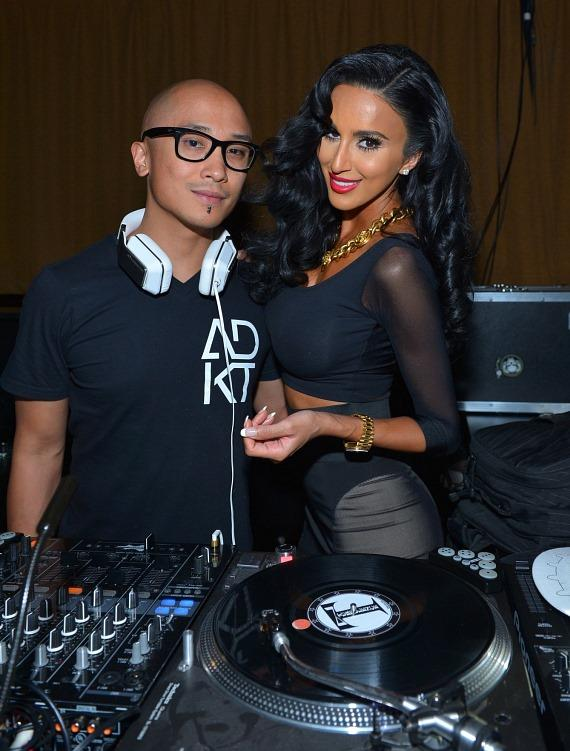 SKAM Artist DJ Tim 'Turbulence' Alejandro with Lilly Ghalichi at Posh Boutique Nightclub