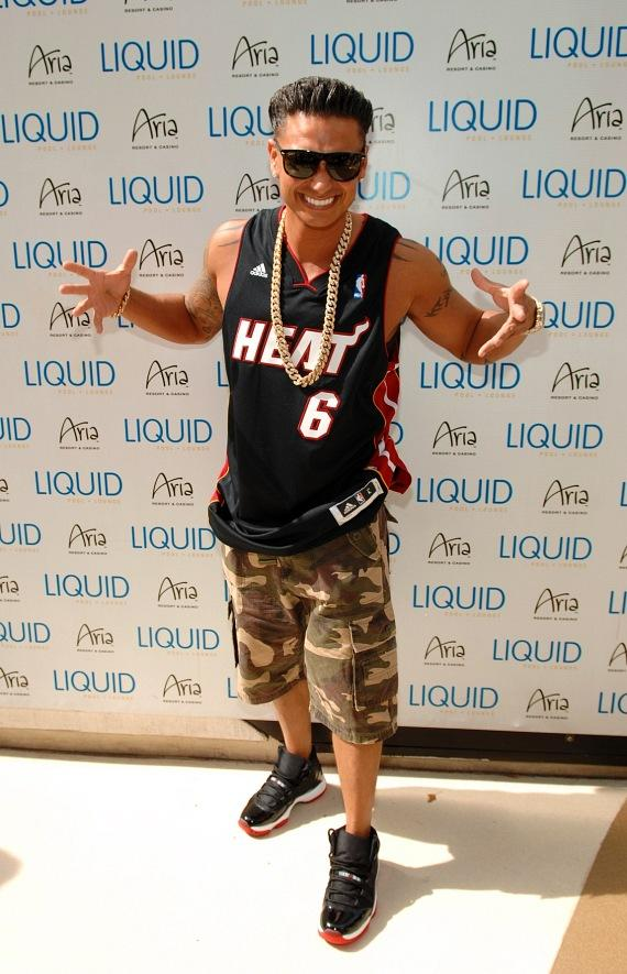 DJ Pauly D arrives at LIQUID Pool Lounge at ARIA