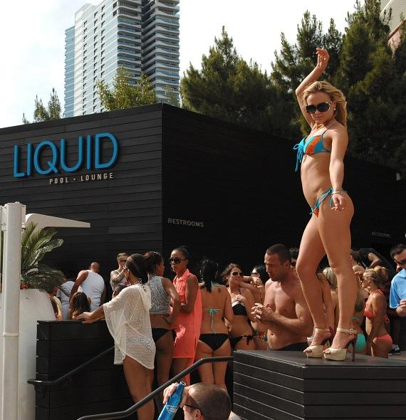 DJ Pauly D Spins for Grand Opening of LIQUID Pool Lounge at ARIA