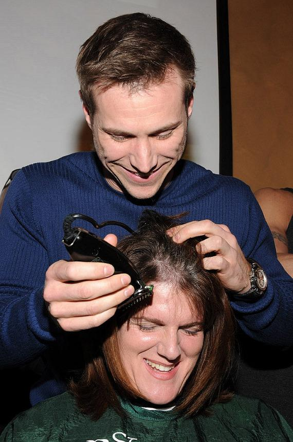 Guest star of Chippendales, Jake Pavelka, shaves heads for St. Baldrick's Foundation