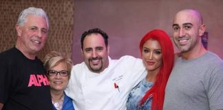 """Eva"" Marie from E!'s popular WWE Divas Celebrates Birthday at N9NE Steakhouse Inside Palms Casino Resort"