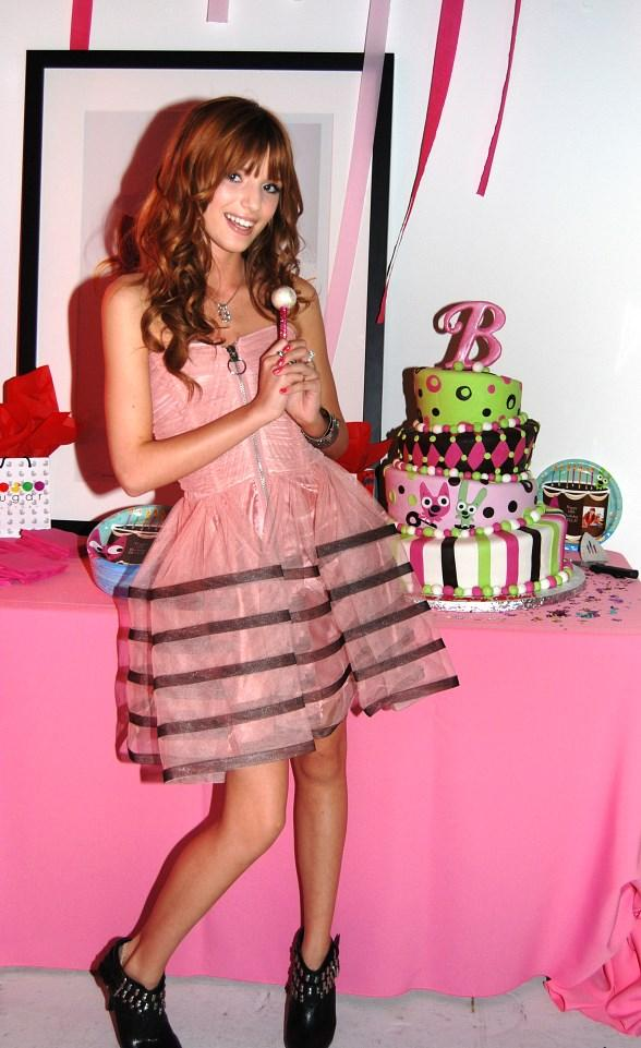 Bella Thorne celebrates her 13th birthday with Sugar Factory sweets