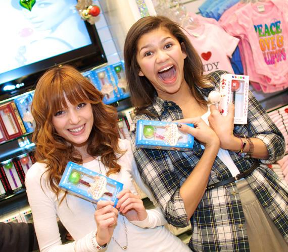 Bella Thorne and Zendaya with Sugar Factory's Couture Pops