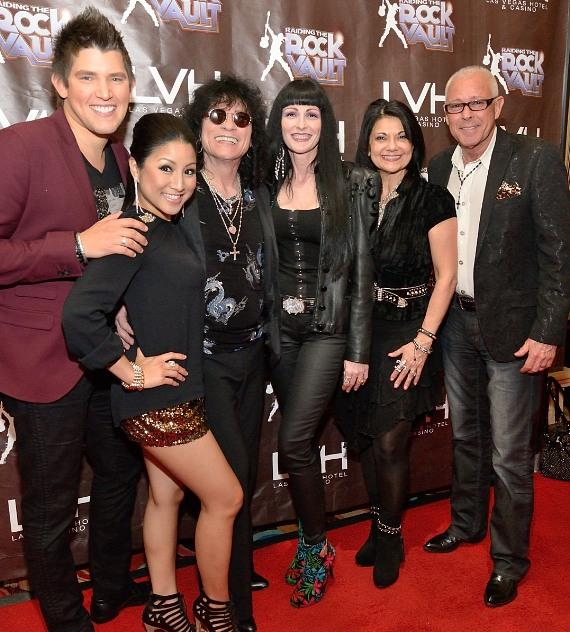 Ben Stone, Jasmine Trias, Paul Shortino, BettyAnn and Bob Golden