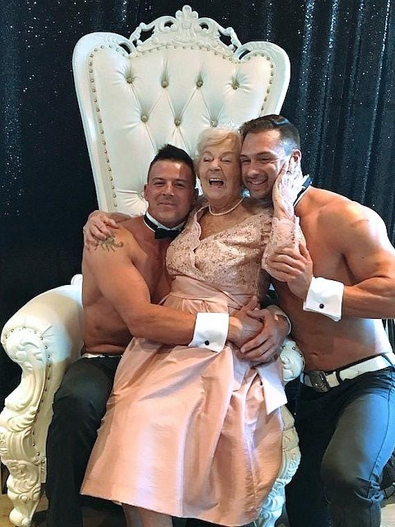 Chippendales Help Fan Celebrate 90th Birthday