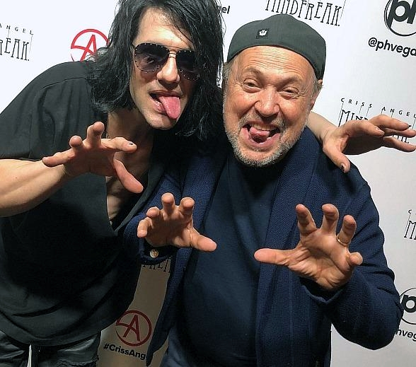 Emmy Award-Winning Actor Billy Crystal Attends Criss Angel's Brand-New Show MINDFREAK at Planet Hollywood in Las Vegas