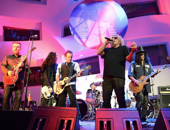 Sin City Sinners, Sammy Hagar and Slash perform during the Kerry Simon 'Simon Says Fight MSA' benefit concert