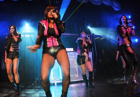Pop Group Blush performs at Krave Nightclub in Las Vegas