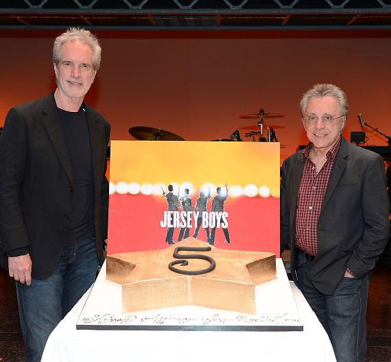 Bob Gaudio and Frankie Valli Celebrate Jersey Boys Fifth Anniversary