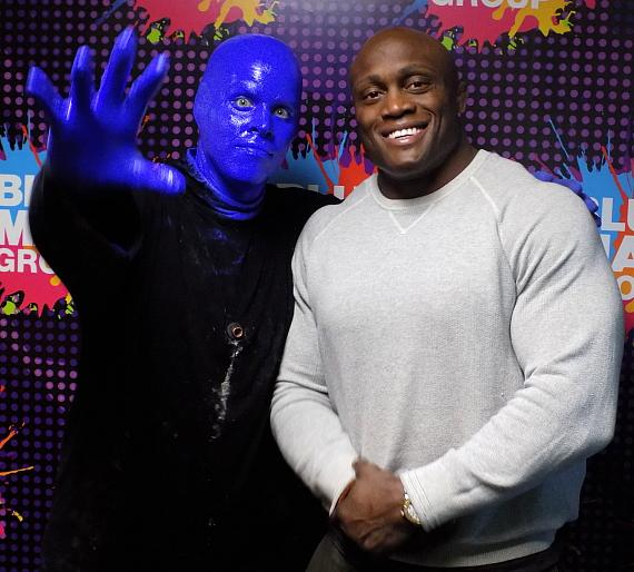 WWE Wrestler Bobby Lashley Attends Blue Man Group at Luxor Hotel and Casino Las Vegas