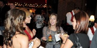Bocce Bellas and Bubbles, Burgers and Bocce party guests