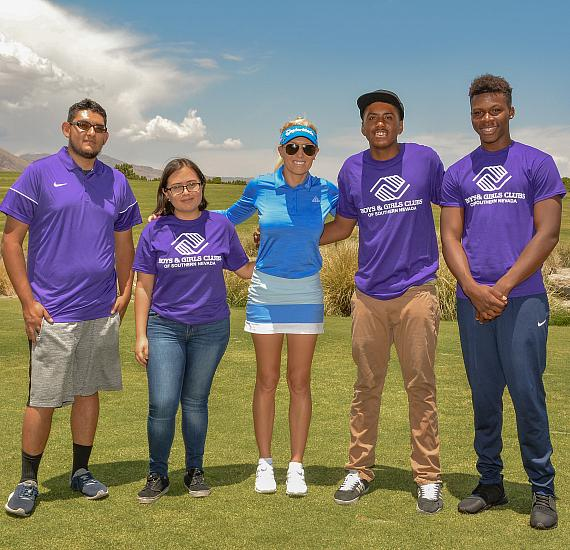 Boys & Girls Club Members with Natalie Gulbis