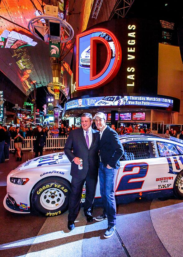 NASCAR's Brad Keselowski Hosts Pre-Race Event at the D Las Vegas