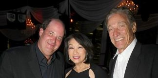 Brian Baumgartner, Connie Chung and Maury Povich at BESO for MJCI
