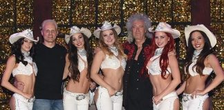 Brian May of Queen Attends X Country at Harrah's Las Vegas