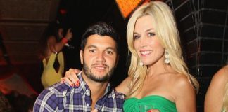 Brian Mazza and Tinsley Mortimer at LAVO