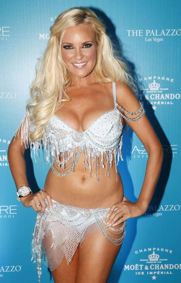 "Bridget Marquardt cools off at ""Snow Day"" at AZURE Luxury Pool"