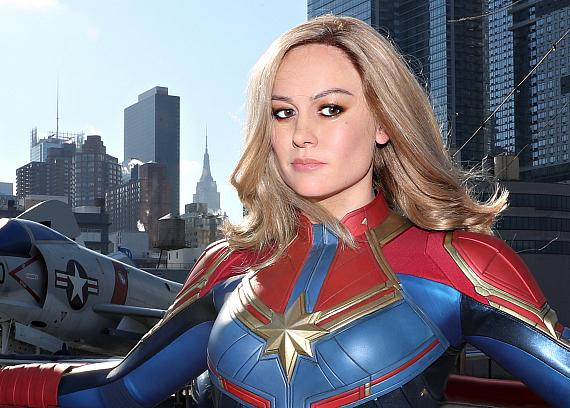 Brie Larson as Captain Marvel in New York