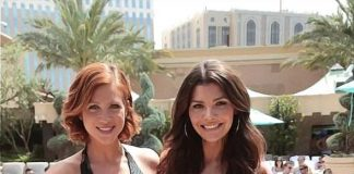 Brittany Snow and Ali Landry at Azure at The Palazzo