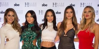 UFC Octagon Girls Arianny Celeste, Brittney Palmer, Chrissy Blair and Vanessa Hanson host after-party at Hyde Bellagio with UFC's Kenda Perez and Bikini Brigade LA