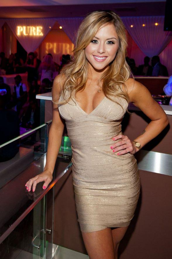 UFC Ring Girl Brittney Palmer Celebrates Birthday at PURE Nightclub
