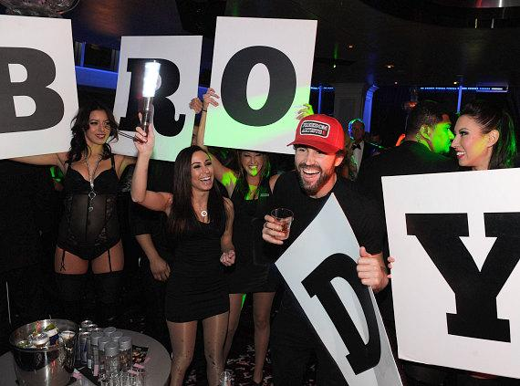 Brody Jenner rages in excitement with go go dancers inside Ghostbar at Palms Casino Resort